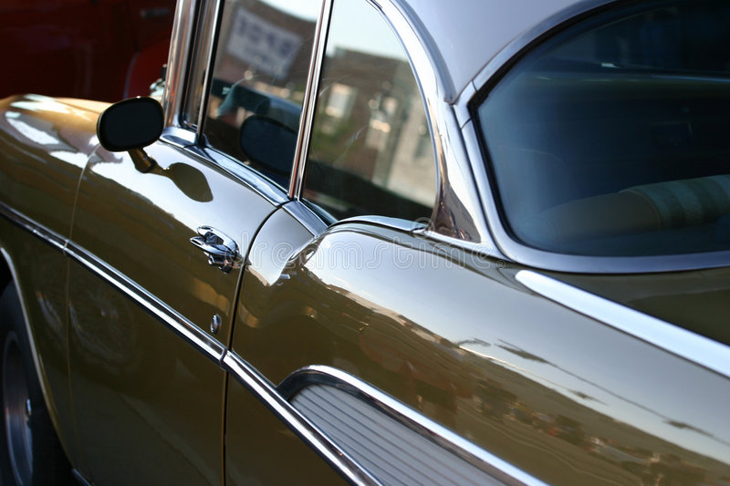 Classic Car. Beautiful classic Bel Air with selective focus towards the middle. A wonderful classic American car royalty free stock photo