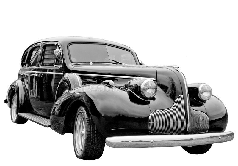 Download Classic Car stock image. Image of shiny, black, white - 3587777