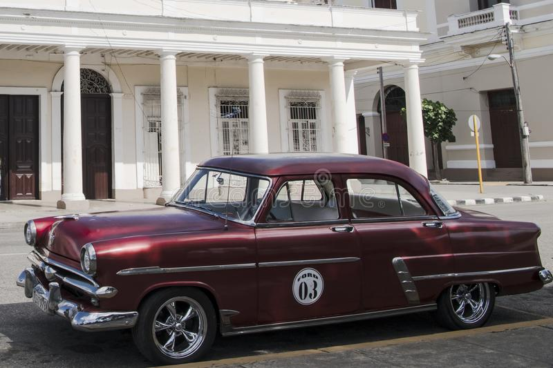 Classic car, american car, vintaged Ford, Cuba stock photography