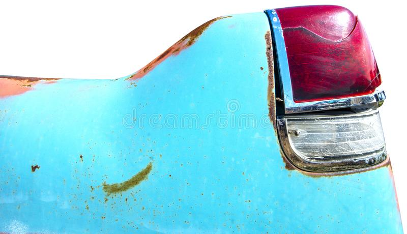 Classic Car Chevy Tail Fin Isolated, Vintage stock images