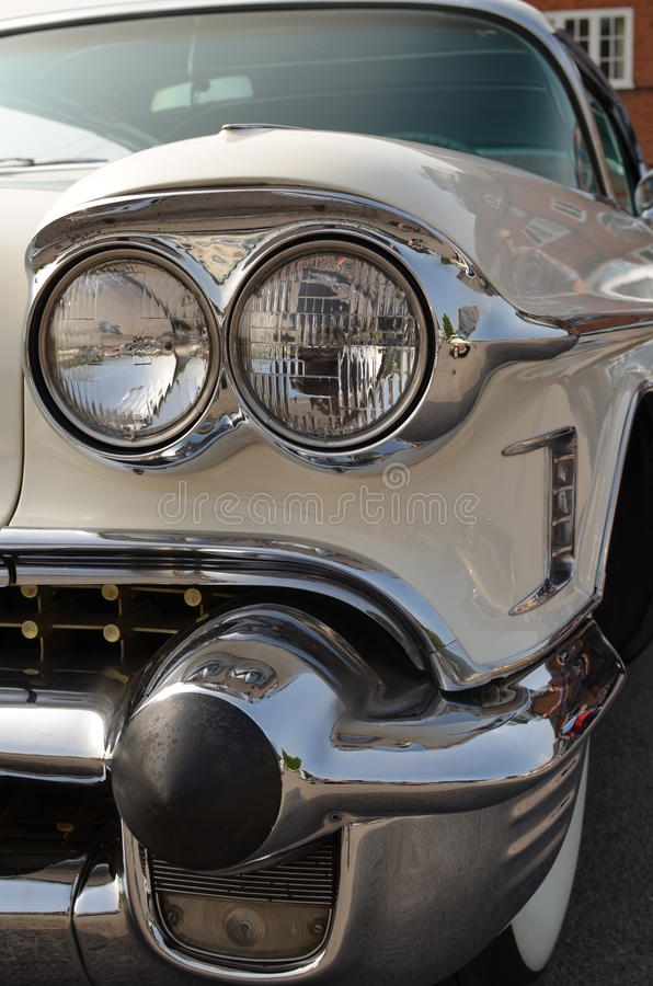 Classic Car chrome headlamp royalty free stock images
