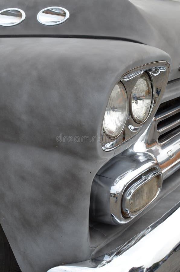 Classic Car chrome headlamp royalty free stock photography
