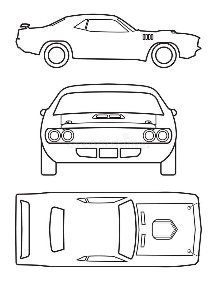 Classic Car Collection. Muscle car silhouette american classic automotive automobile transport transportation. Logo Design vector illustration