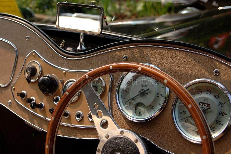 Classic car dashboard royalty free stock photo