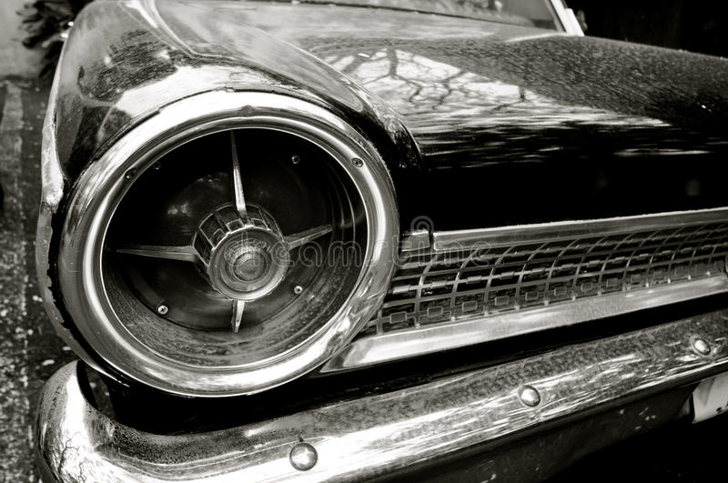 Classic Car Details. This is a picture of details with a classic car royalty free stock photos