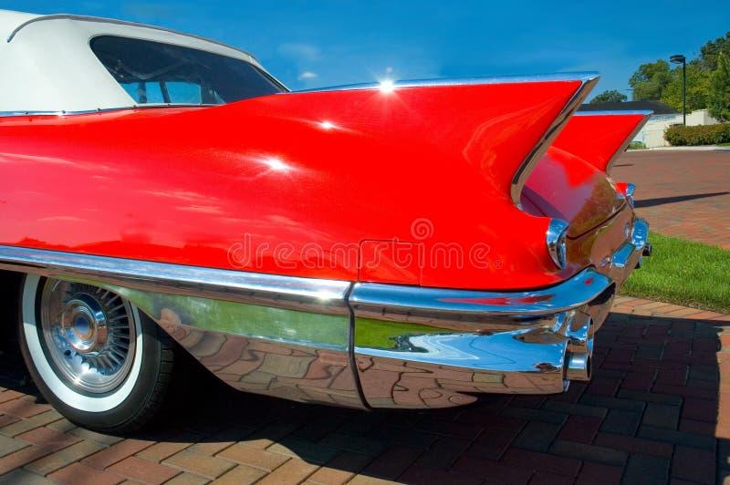 Classic Car Fins. Rear fins of a classic car