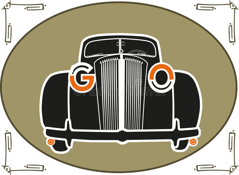 classic car front view vector royalty free stock image