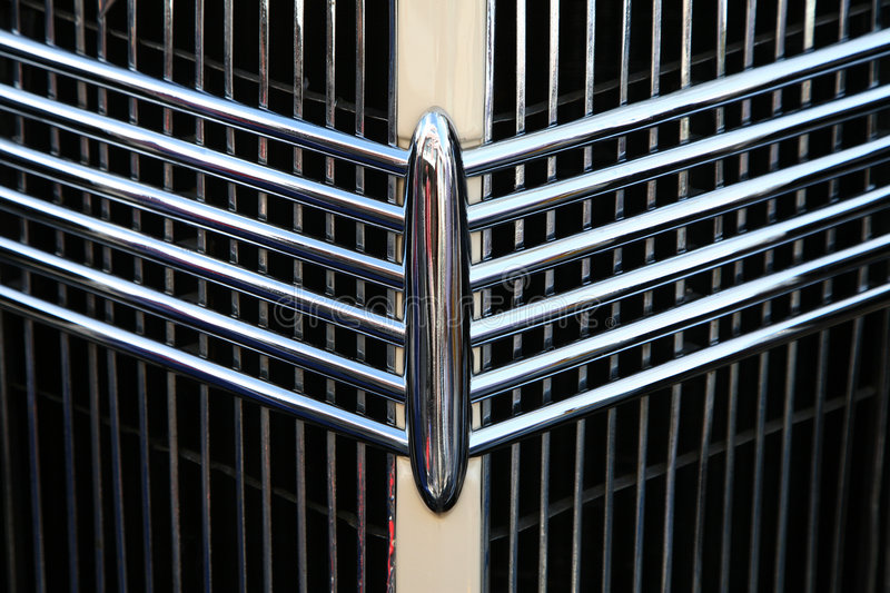 Classic car grill royalty free stock photos