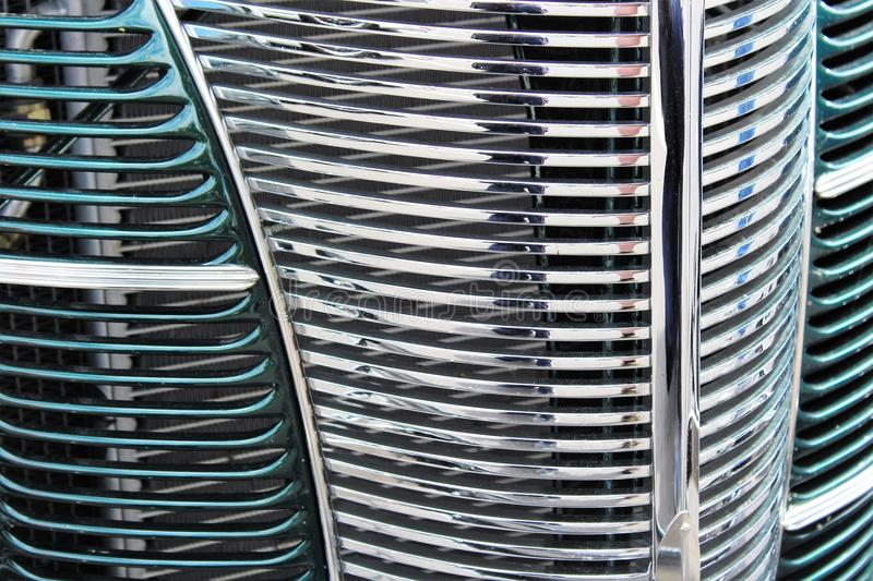 Classic car grille stock image
