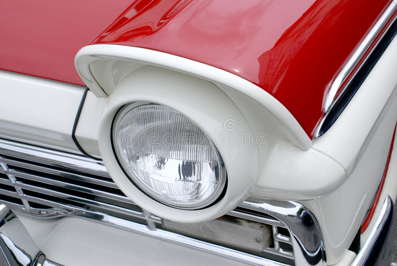 Classic Car headlight stock photography