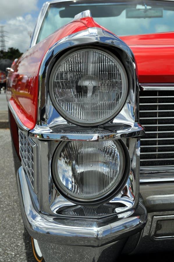Classic Car Headlight Detail stock photo