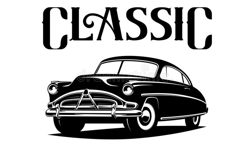 Classic car illustration isolated on white background. vector illustration