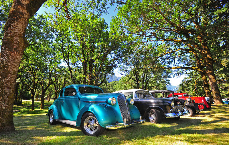 Classic Car Line Up Editorial Photography
