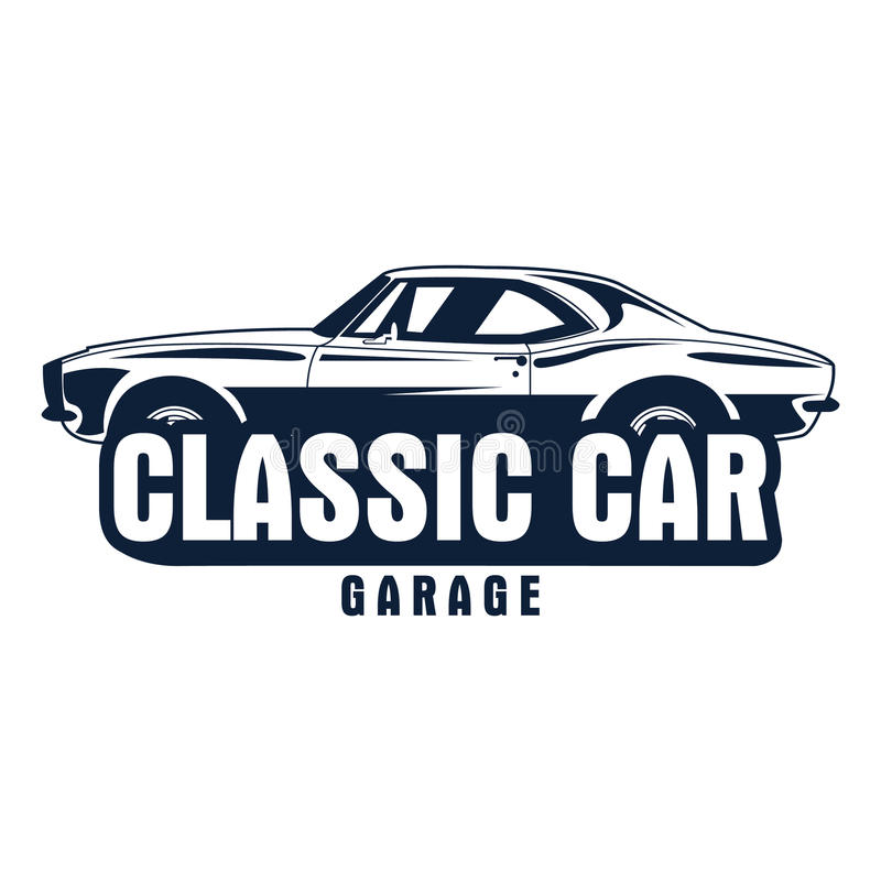 Classic car logo vector illustration