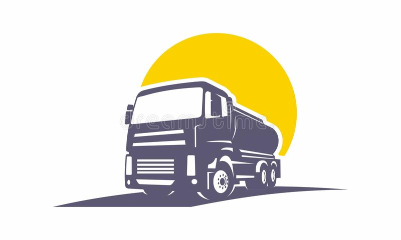 Truck transportation unique logo team stock photography
