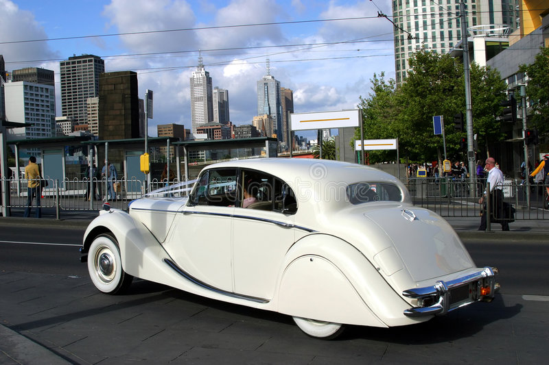 Classic car in Melbourne stock image