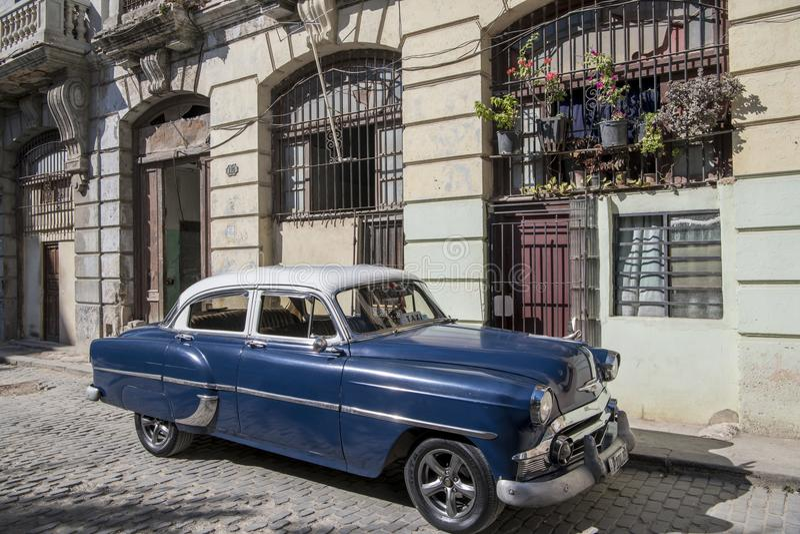 Classic car in old town of Havana, Cuba stock photos