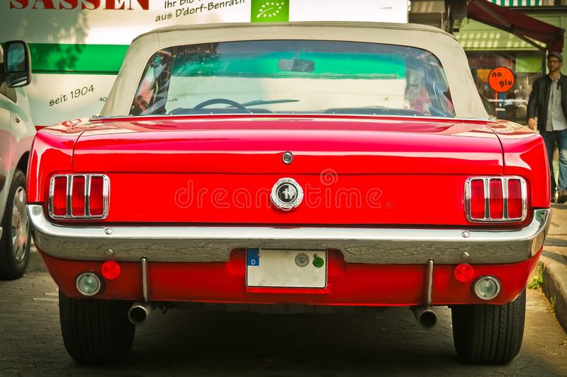 Classic car rear stock photography