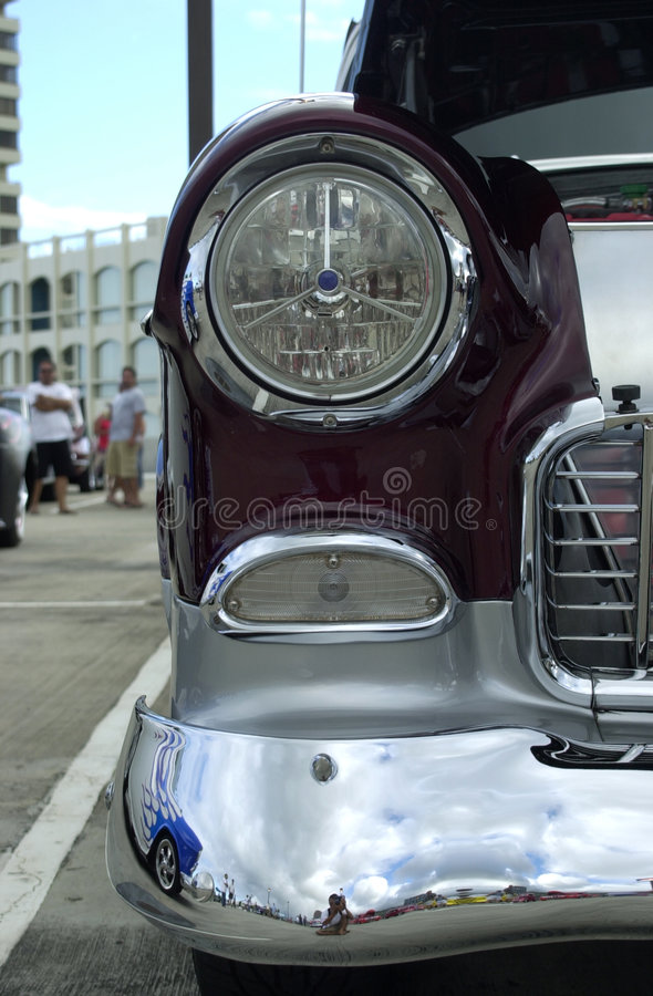 Classic Car S Headlight Royalty Free Stock Image