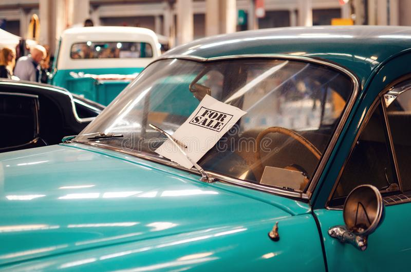 Classic car for sale royalty free stock photo