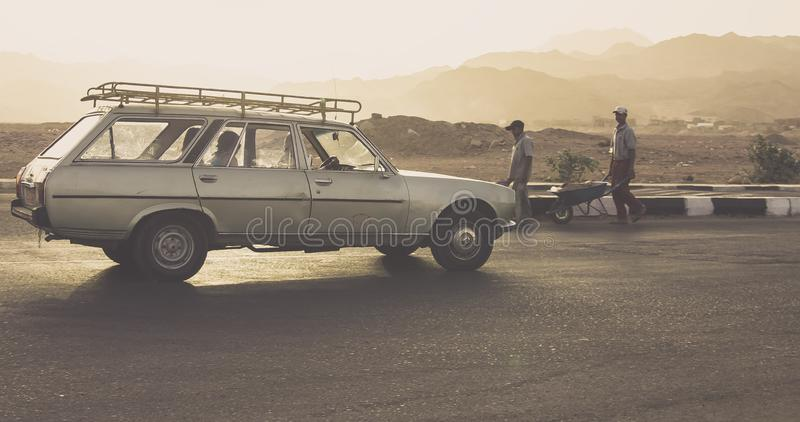 Classic car on street stock photo
