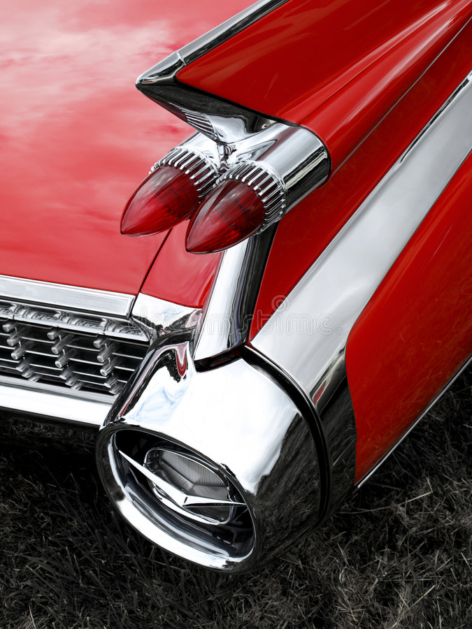Free Classic Car Tail Fin And Light Detail Royalty Free Stock Images - 5682119