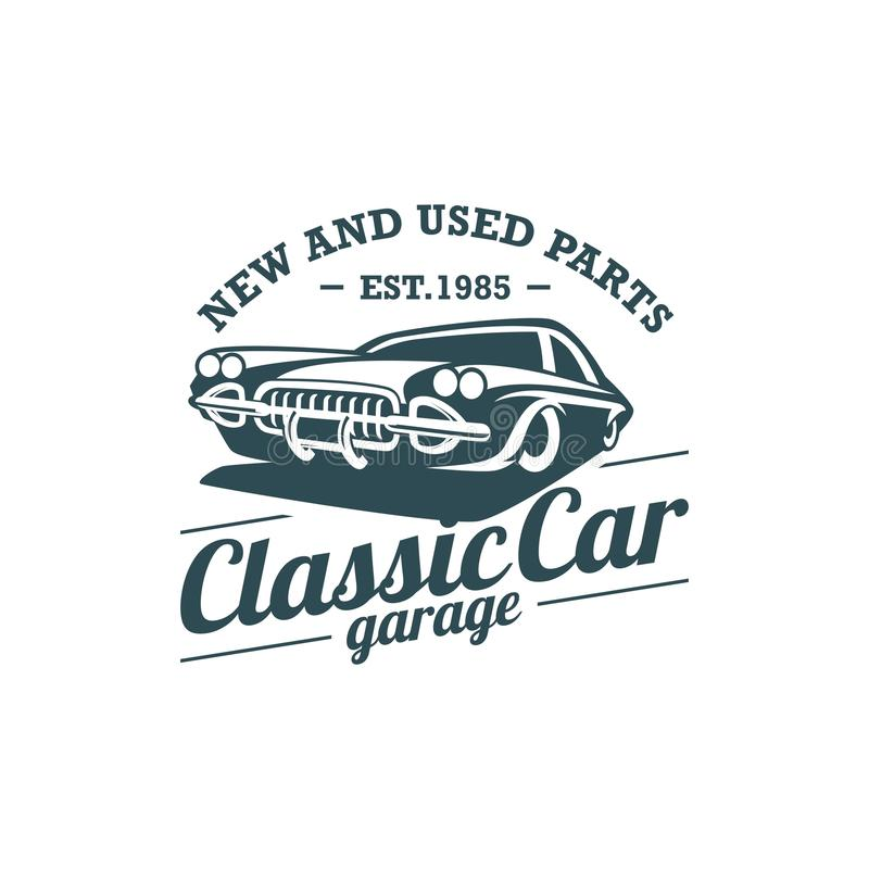 Classic Car Vector Template. With Background stock illustration