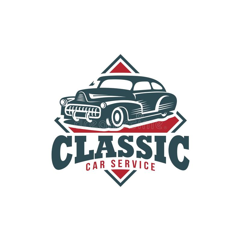 Classic Car Vector Template Stock Vector Image