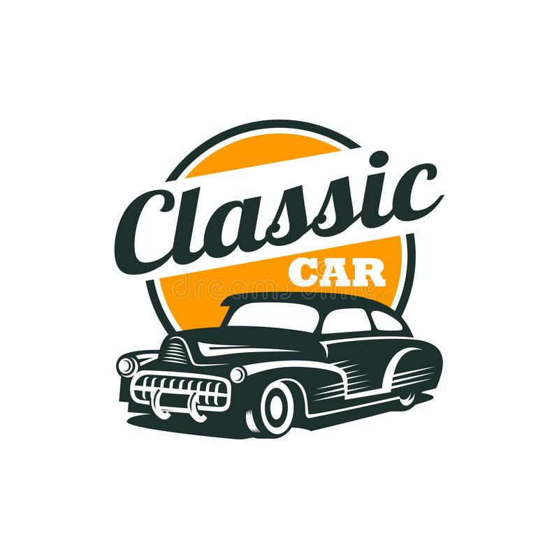 Classic Car Vector Template. With Background vector illustration