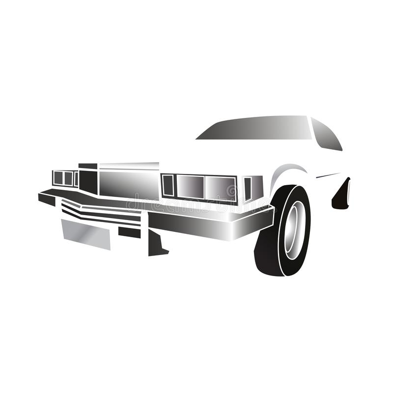 Classic_car_white stock de ilustración