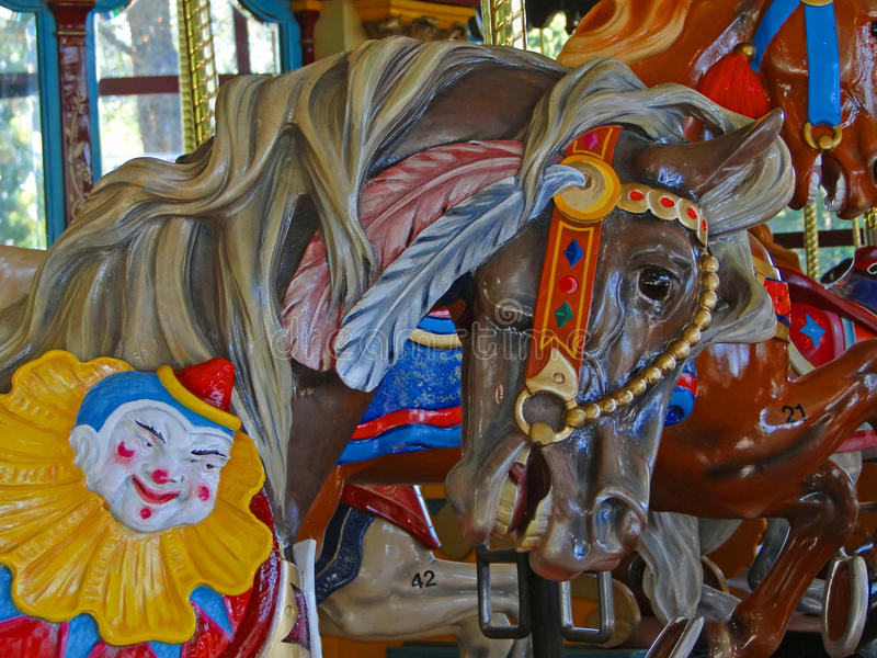 Classic carousel horses stock photography