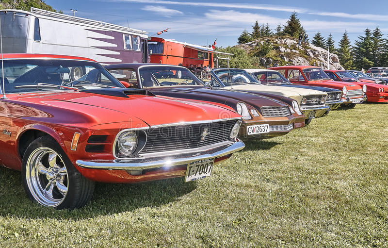 Classic cars at cars show stock photo