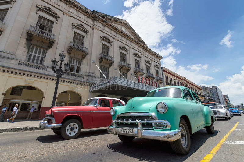 Classic cars in Cuba stock images