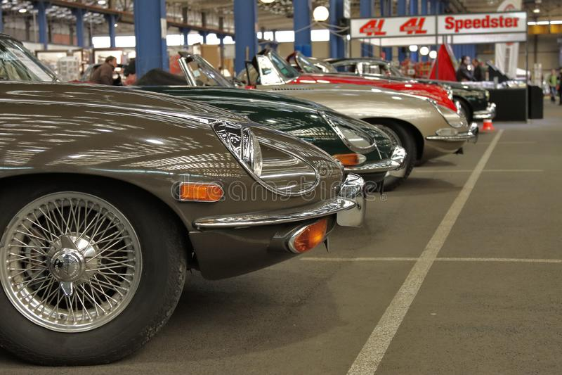 Classic cars expo royalty free stock photo