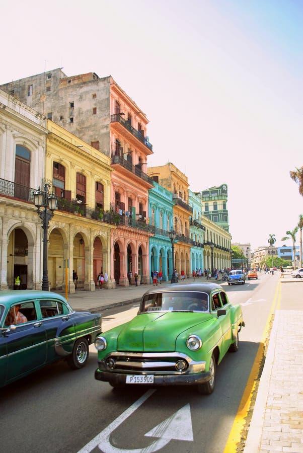 Classic Cars In La Havana`s Streets Editorial Stock Image - Image of ...