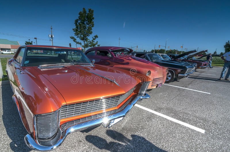 Classic cars show royalty free stock images