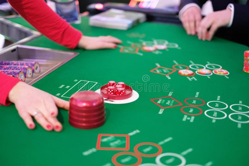 craps on the table