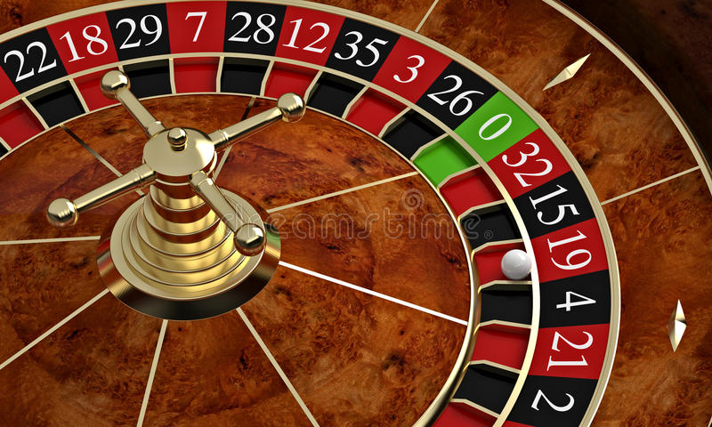 Classic casino roulette. 3d rendering royalty free illustration