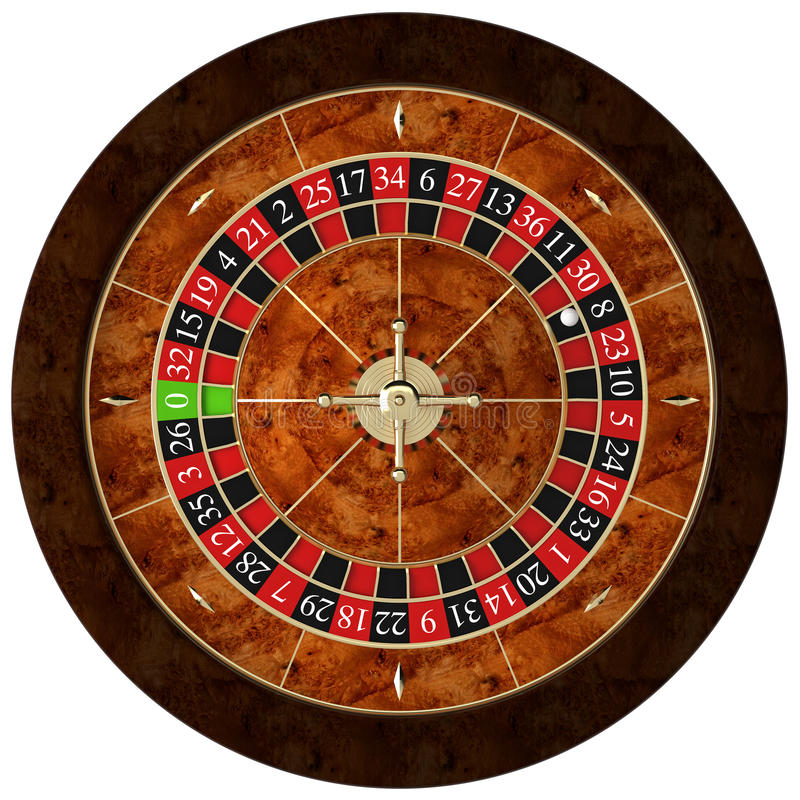 Classic casino roulette. 3d rendering stock illustration