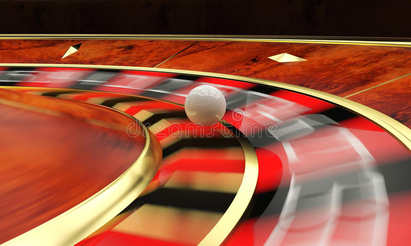 Classic casino roulette. And green table 3d rendering vector illustration