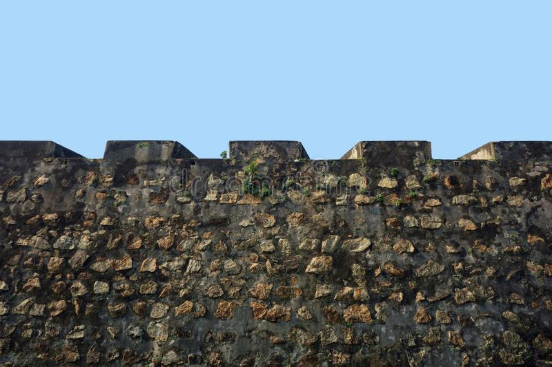 Classic Castle Top Wall Battlements royalty free stock images