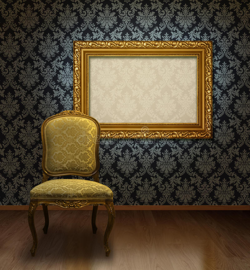 Download Classic chair and frame stock image. Image of classic - 12162069