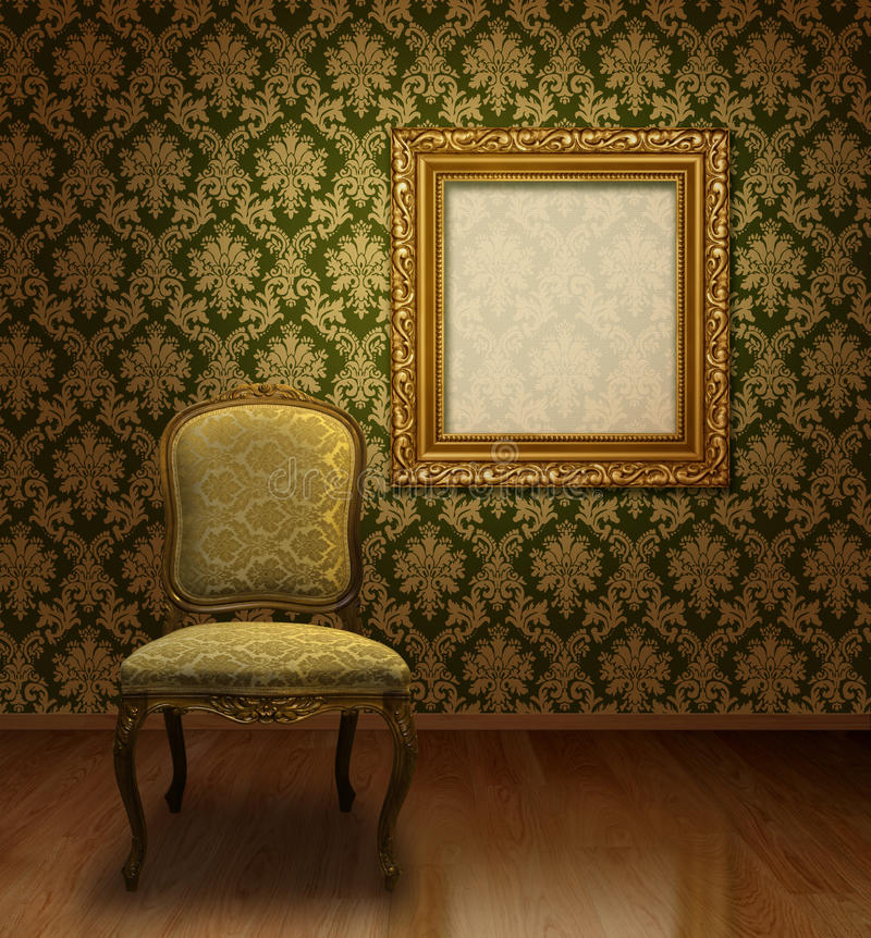 Classic chair in room royalty free stock photo