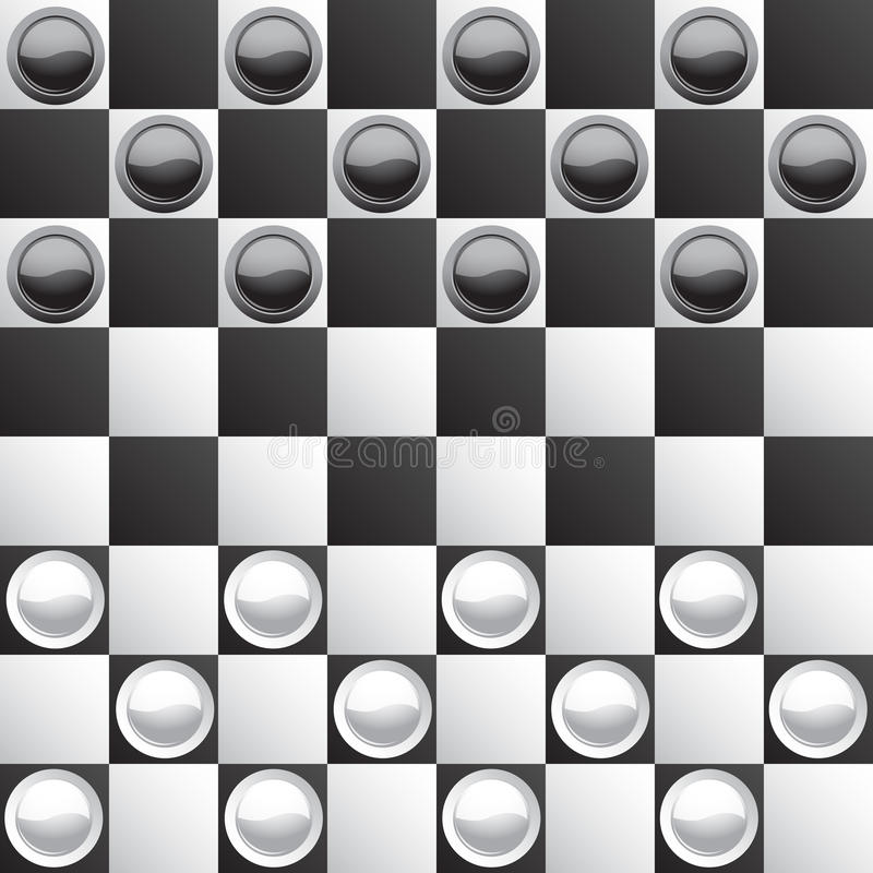 Classic checkers. Brilliant classic checkers, illustration (eps10), there are two layers: board and checkers stock illustration