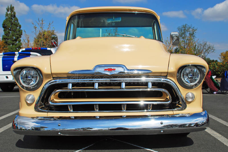 Classic 1957 Chevrolet Pick-up truck royalty free stock images