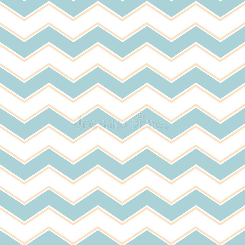 Classic chevron zigzag seamless pattern. Memphis group style pastel blue colors vector gentle background vector illustration