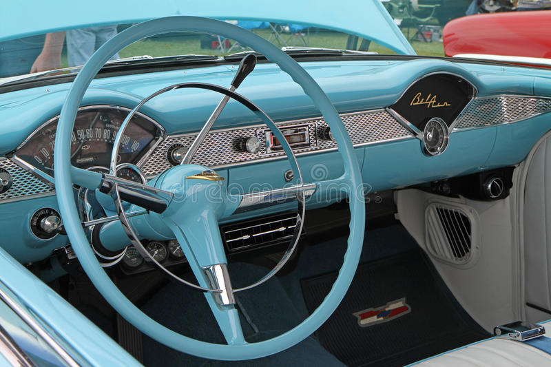 Classic 1955 chevy automobile editorial stock image for Auto fair at charlotte motor speedway