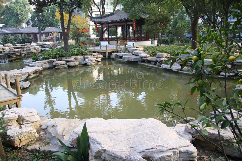 Classic chinese garden royalty free stock images