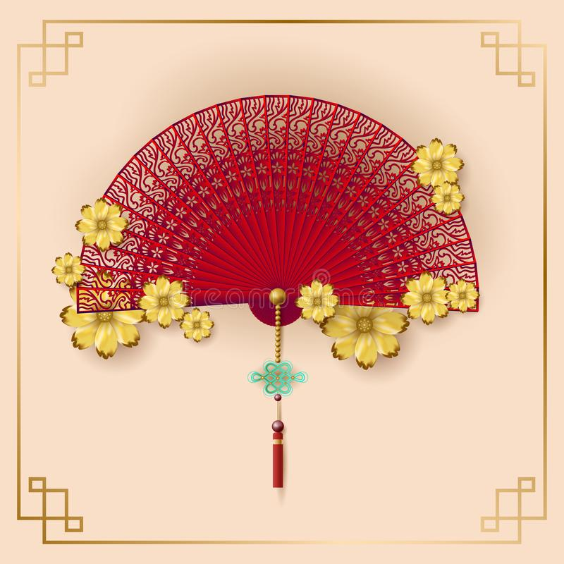 Classic Chinese new year background, vector illustration. vector illustration