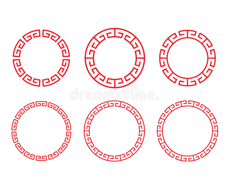 Classic Chinese Red Circle Window And Photo Frame Stock Vector ...